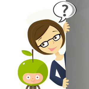 Illustration of Mother and Son with Questions on Hiring a Live-in Nanny